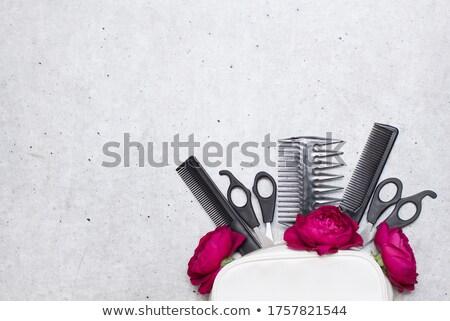 Vrouwelijke tool zak tools stofbril Stockfoto © JamiRae