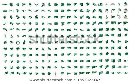 Groot collectie vector vlaggen Pakistan teken Stockfoto © butenkow