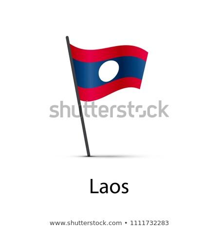 Laos banderą słup biały Zdjęcia stock © evgeny89