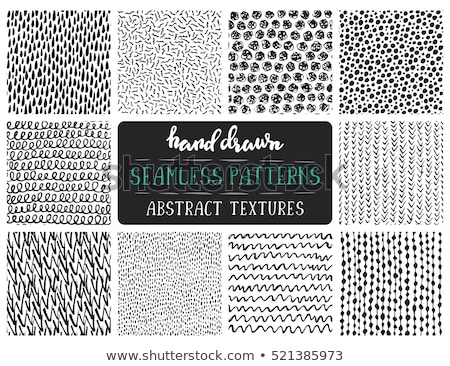 Simple ink geometric pattern. Monochrome black and white strokes background. Hand drawn ink texture  Stock photo © samolevsky