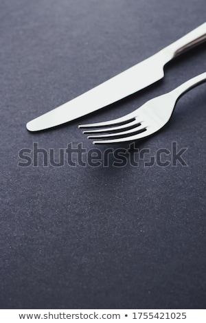 вилка ножом серебро приборы таблице Сток-фото © Anneleven