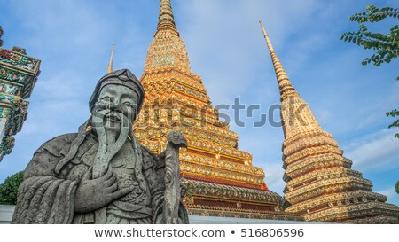 Pierre tuteur Thaïlande chinois Bangkok statue Photo stock © dmitry_rukhlenko