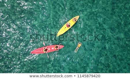 Topo ver caiaque mar praia Foto stock © galitskaya