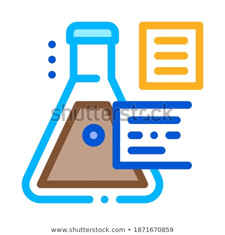 in vitro gas study icon vector outline illustration Stock photo © pikepicture