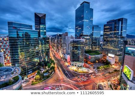 Seúl paisaje urbano crepúsculo Corea del Sur centro de la ciudad Foto stock © dmitry_rukhlenko