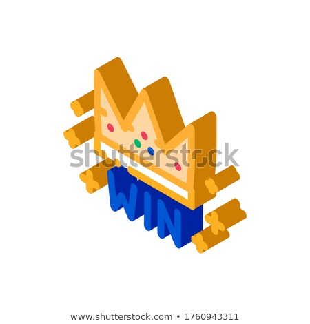 Winner Crown Betting And Gambling isometric icon vector illustration Stock photo © pikepicture