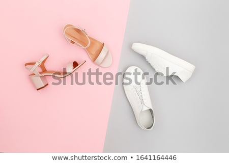 Femenino sandalias hermosa blanco nina Foto stock © iko