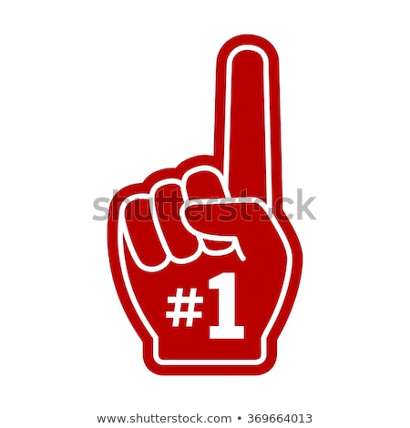 Number one fan foam hand Stock photo © goir