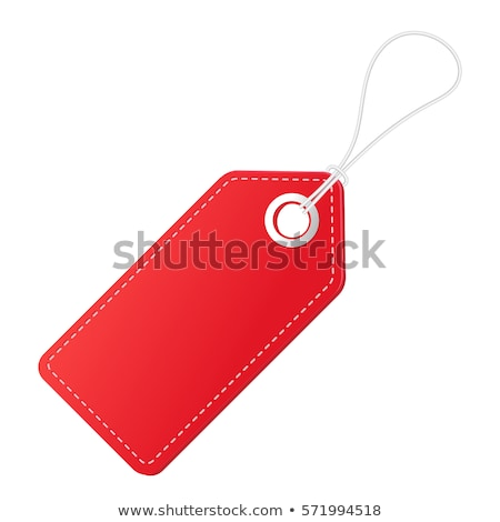 Red paper sale tag Stock photo © orson