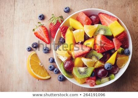 Сток-фото: свежие · Летние · фрукты · Салат · здорового · свежие · фрукты · клубники