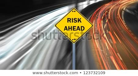 Pénzügyi kockázat autópálya tábla magas döntés grafikus Stock fotó © kbuntu