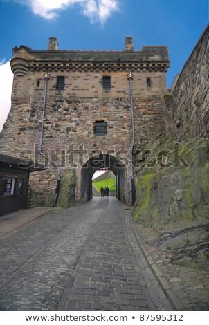 Edimburgo · castelo · portão · estrada · segurança · caminho - foto stock © CraigPJ