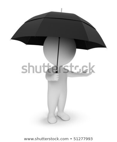 3d small people - shield stock photo © AnatolyM