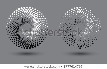 Black pattern on a white background.  Ying yang. Stock photo © Stellis