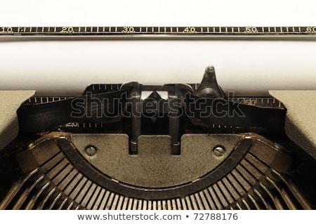 Closeup of old typewrite circa 1950s Stock photo © Balefire9