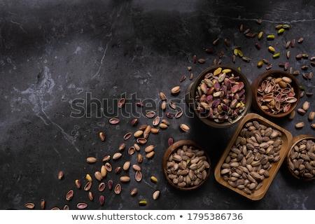 lanches · comida · concha · noz · nozes · tigela - foto stock © posterize