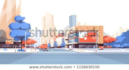óriásplakát út város illusztráció felirat városkép Stock fotó © pkdinkar