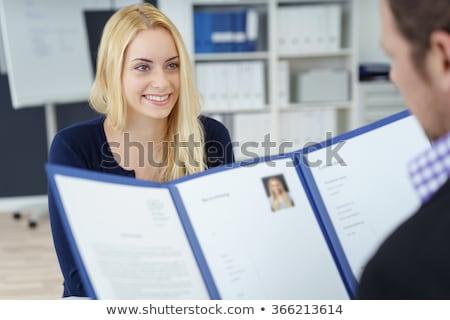 Trabajo solicitante profesional entrevista trabajo empresario Foto stock © photography33