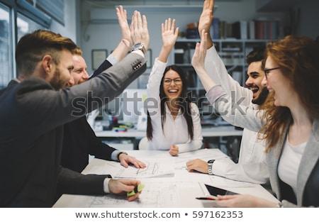 Photo stock: Success Business Woman Celebrating