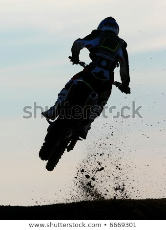 a motox rider goes for air off a big jump stock photo © sportlibrary