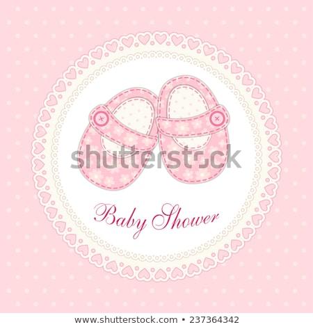 Roze kant frame schoenen paar Stockfoto © ElaK