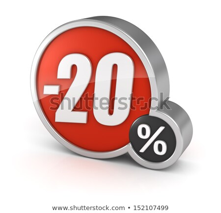 Twenty percent discount shiny digits stock photo © deyangeorgiev