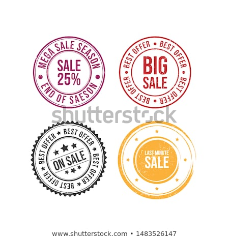 Half off rubber stamp stock photo © IMaster