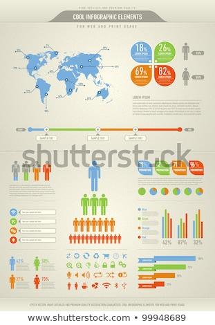 Foto d'archivio: Cool · infografica · elementi · web · stampa · internet