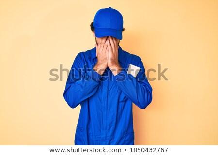 Tímido masculina constructor cara industria trabajador Foto stock © photography33