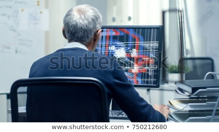 architect and his assistant with a 3d model stock photo © photography33