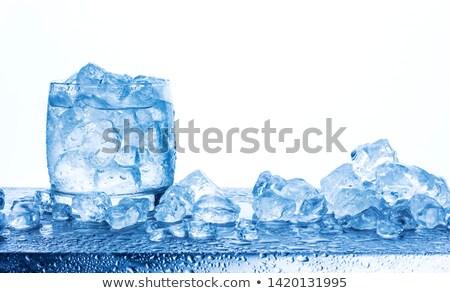 Gelado água azul jarro limão Foto stock © danielgilbey