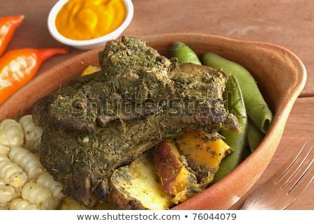 Traditional Peruvian Food Called Pachamanca Stock photo © ildi