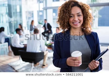business · woman · zadowolony · wyniki · atrakcyjny · podpisania - zdjęcia stock © photography33