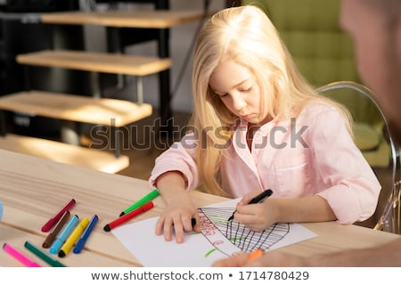 young woman and little girls coloring stock photo © photography33