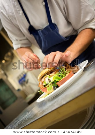 chef cook sandwich man stock photo © benchart