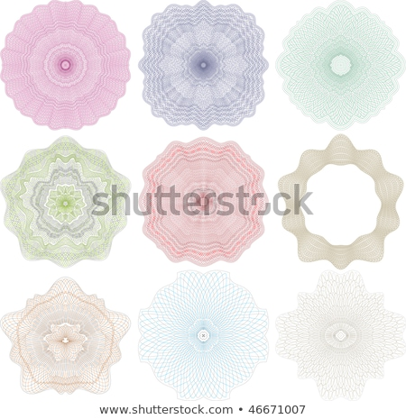 high quality rossete vector elements for diploma or certificate Stock photo © fotoscool