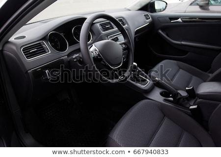 Сток-фото: автомобилей · интерьер · приборная · панель · новых · черный · технологий