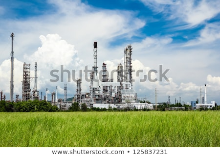 Plant pipe with smoke against blue sky Stock photo © rufous