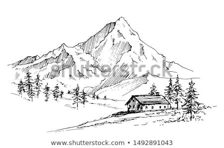 Himalayas Landscape: highland village and mountains Stock photo © Arsgera