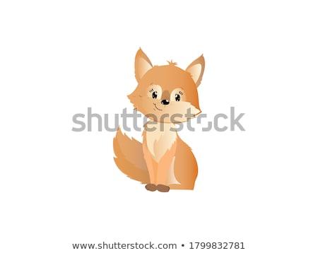 Felice sorridere cartoon Fox mascotte vettore Foto d'archivio © chromaco