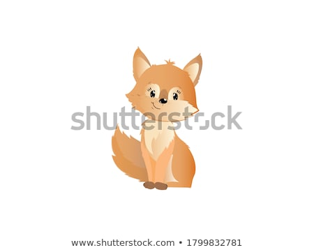 Cute · Cartoon · Fox · улыбка · собака · счастливым - Сток-фото © chromaco