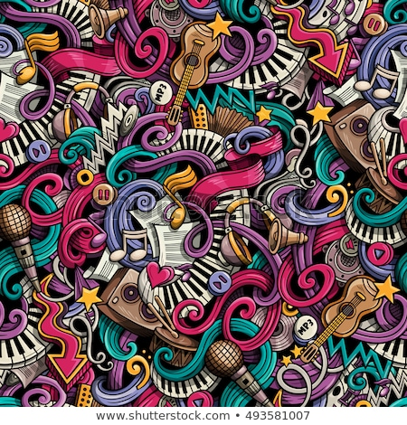 Abstract Seamless Background With Musical Instruments Stock photo © balabolka