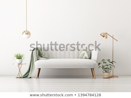 bank · lamp · interieur - stockfoto © zzve