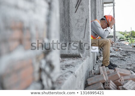 Portret ekspresyjny budynku pracownika biznesmen kierownik Zdjęcia stock © photography33