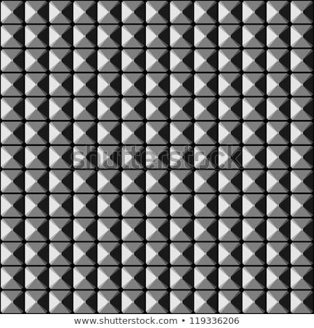 piramide · metaal · plaat · naadloos · vector - stockfoto © tuulijumala