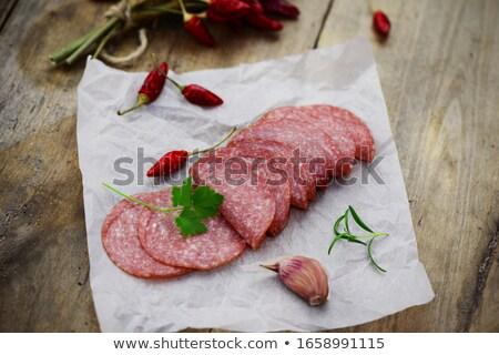 колбаса · овощей · красный · перец · стороны - Сток-фото © icefront