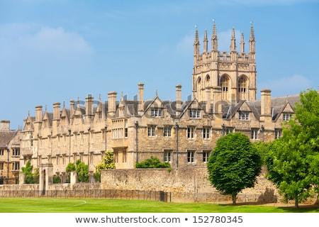 колледжей Оксфорд Англии лет время дома Сток-фото © prill