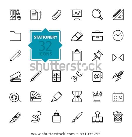 калькулятор · отходов · бумаги · трубка - Сток-фото © a2bb5s