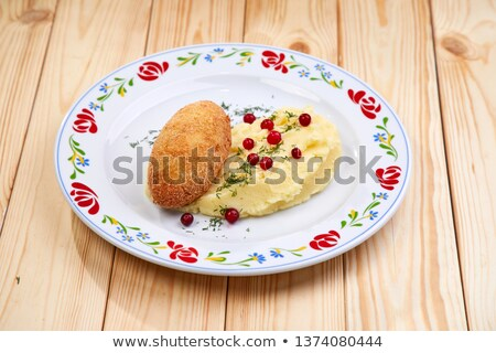 Mashed Potato and Cutlets Stock photo © zhekos