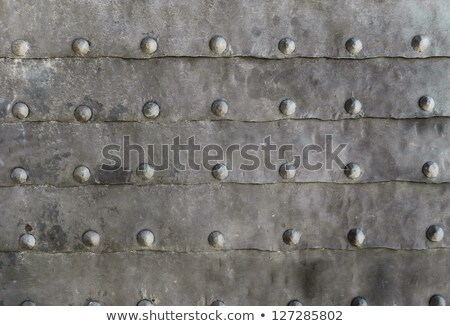 Rivets on weathered metal Stock photo © haraldmuc